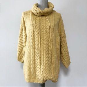 Molly Bracken sweater cowl neck wide sleeves